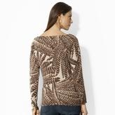 Ralph Lauren Feather-Print Boatneck Sweater