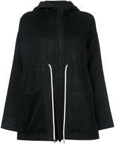 Bassike drawstring hooded jacket - women - Nylon/Cashmere/Virgin Wool - 6