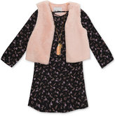Rare Editions Chiffon Dress, Vest and Necklace Set, Tpddler Girls (2T-5T)