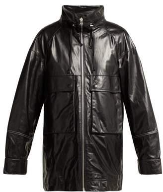 Helmut Lang Leather Anorak Jacket - Womens - Black