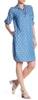 Foxcroft 3/4 Length Sleeve Dot Dress