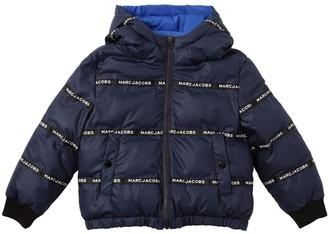 Little Marc Jacobs Reversible Hooded Nylon Puffer Jacket