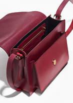 Saddle Stitch Leather Shoulder Bag