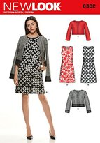 New Look Size A 8 - 10 - 12 - 14 - 16 - 18 - 20 Sewing Pattern 6302 Misses' Dresses and Jackets, Multi-Colour