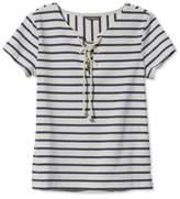 L.L. Bean Signature Nautical French Sailor Tee, Short-Sleeve Stripe
