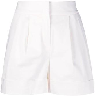 Alberta Ferretti High-Waist Wide-Leg Shorts