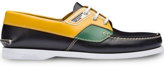 Prada Brushed leather boat shoes