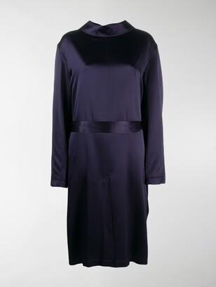Balenciaga Silk Backwards-Collar Dress