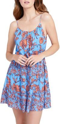 Alice + Olivia Cheyla Floral Drawstring Waist Mini Dress
