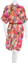 Preen Velvet Degradé Belted Dress