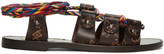Valentino Brown Leather Santeria Sandals