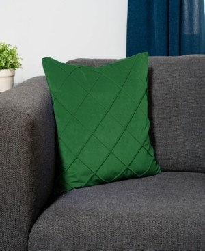 Protect A Bed Velvet Waffle Pleat Decorative Throw Pillow