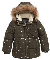 Joules Girl's Stella Hooded Puffer Jacket
