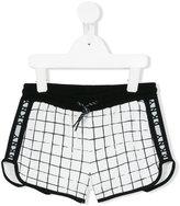 DKNY check track shorts