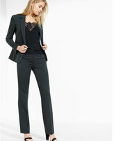 Express charcoal gray 24 inch one button blazer