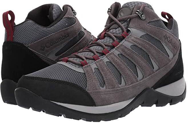 Columbia Redmond V2 Mid Waterproof (Graphite/Red Jasper) Men's Hiking Boots