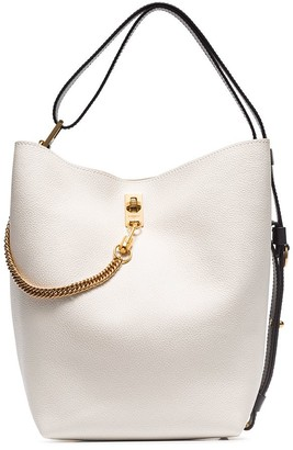 Givenchy white GV leather bucket bag