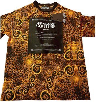 Versace Gold Cotton T-shirts