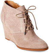 Franco Sarto Mushroom Lennon Lace-Up Wedge Booties