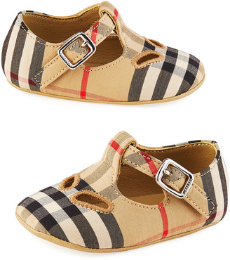 Burberry N1 Kipling Vintage Check Mary Jane Flats, Baby