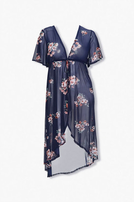Forever 21 Plus Size Floral Duster Jacket
