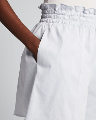 ADEAM Solid Paperbag Shorts