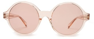 Celine Oversized Round Acetate Sunglasses - Womens - Light Pink
