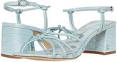 Sam Edelman Faith (Powder Blue Fine Nappa/Caymans Croco) Women's Shoes