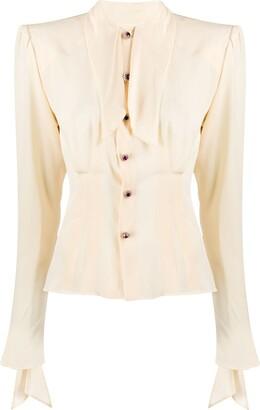 Dolce & Gabbana Tie Neck Blouse