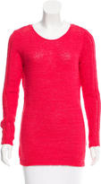 Rachel Zoe Open Knit Scoop Neck Sweater