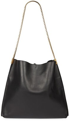 Saint Laurent Suzanne Leather Hobo Bag