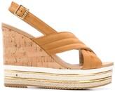 Hogan wedge slingback sandals