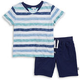 Splendid Boys 2-7 Little Boy's Striped Tee and Knit Shorts