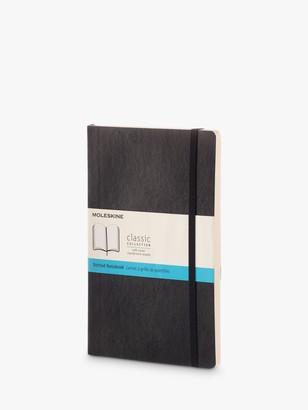 Moleskine Large Soft Cover Dotted Notebook, Black