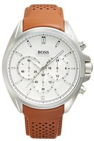 HUGO BOSS Men's 'Driver' Chronograph Leather Strap Watch, 44Mm