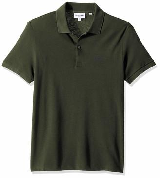 Lacoste Men's Short Sleeve Graphic Croc Petit Pique Slim Fit Polo