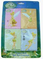 Disney Tinkerbell Stationery - Tinker Bell 4 pack crayons set [Toy]