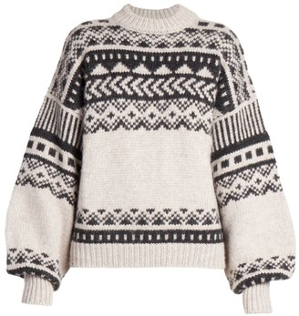 LOULOU STUDIO Asco Intarsia Wool & Alpaca Knit Sweater