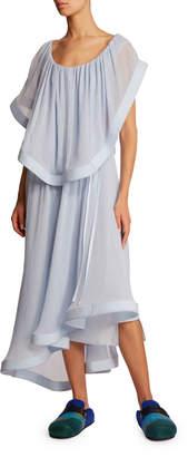 J.W.Anderson Silk Overylay Asymmetric Dress
