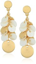 Anne Klein Gold-Tone White Shaky Drop Earrings