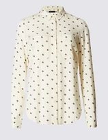 Marks and Spencer Geometric Print Long Sleeve Shirt