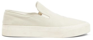 The Row Mary H Slip-on Canvas Trainers - Beige