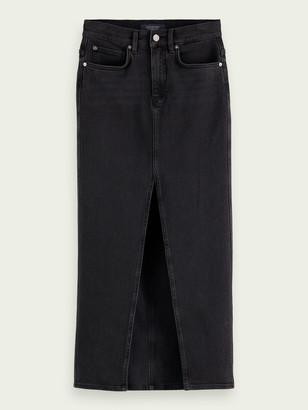 Scotch & Soda Ankle-length denim pencil skirt   Women