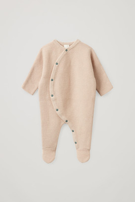 Cos Knitted Cotton-Wool Babygrow