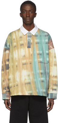 Wooyoungmi Green and Multicolor Tie-Dye Polo