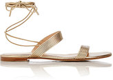 Gianvito Rossi Women's Double-Band Ankle-Tie Sandals-GOLD