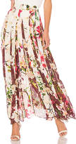 Rococo Sand Floral Maxi Skirt in Pink. - size M (also in S,XS)