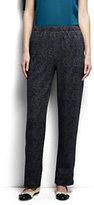 Classic Women's Petite Sport Knit Pants-Black Textured Jacquard