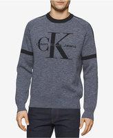 Calvin Klein Jeans Men's Jacquard Indigo Sweater