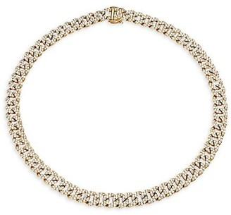 Larsa Marie Megan 14K Yellow Gold & Diamond Pave Large Cuban-Link Necklace